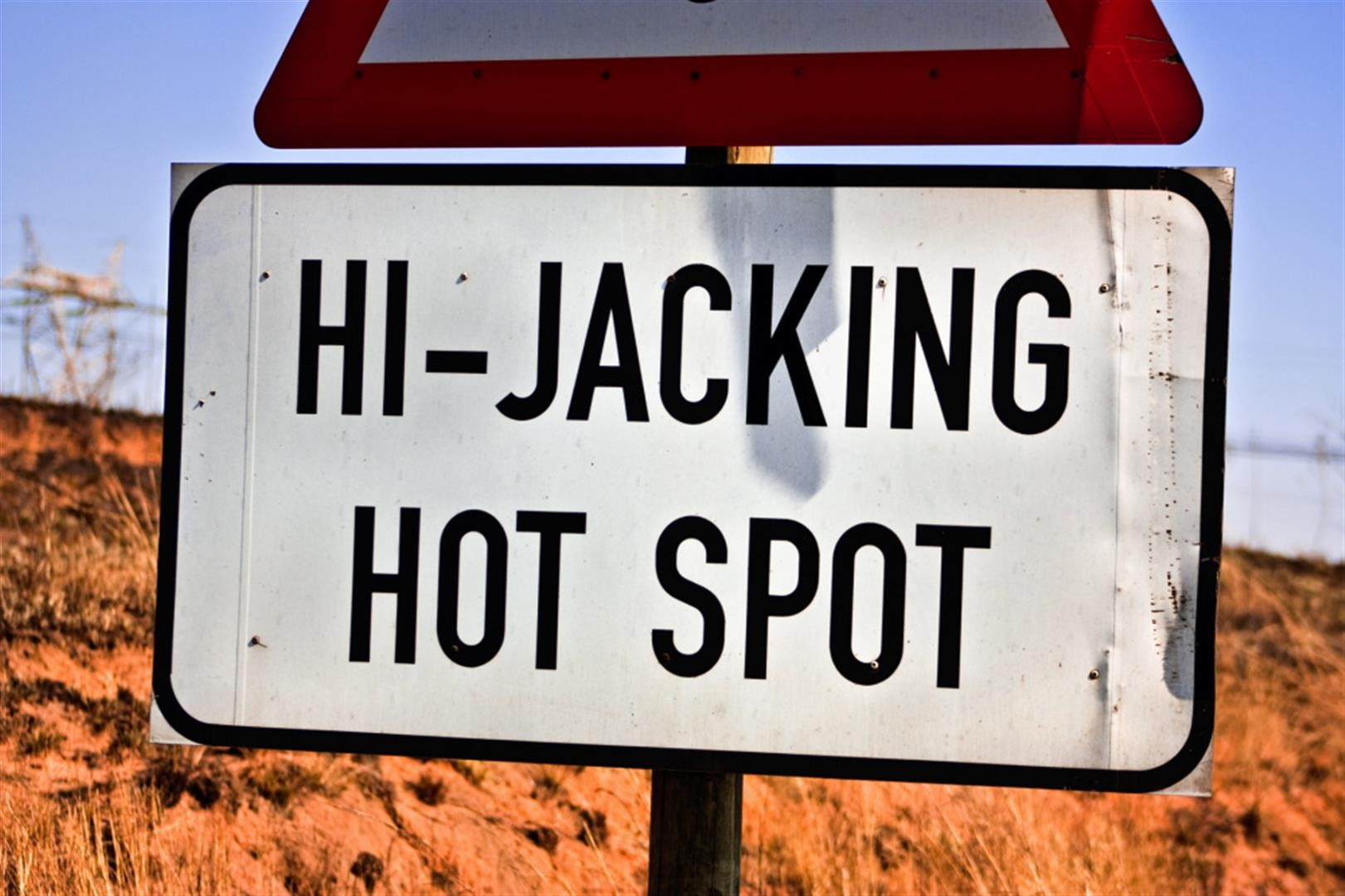 Hijacking hot spot warning sign | Biptel